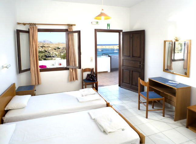 Afroditi Studios, Twin Bedded Room Sea View, 14431