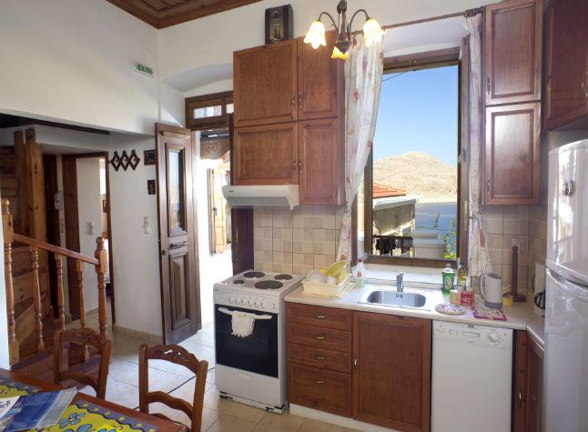 Villa Chrysanthi, Kitchen Area,14616
