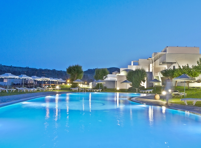 Lindos Sun Hotel, Swimming pool at night,24402