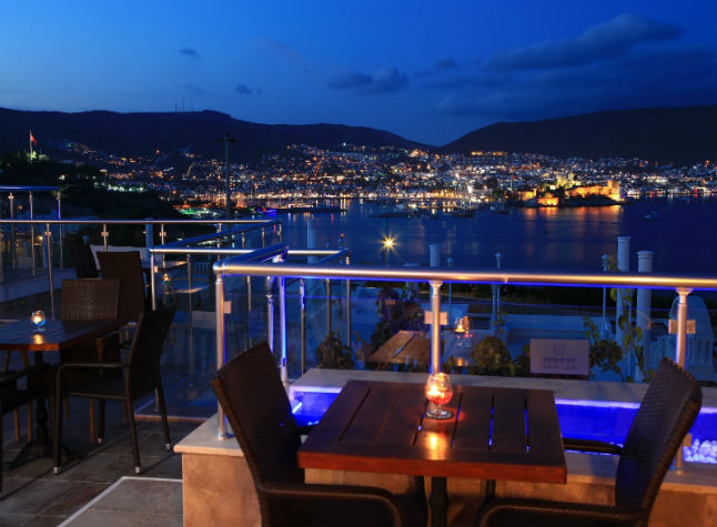 Bodrum Bay, Restaurant at night,538