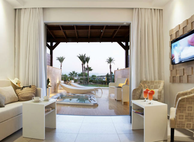 Asterias Hotel, Living room and private terrace,30688