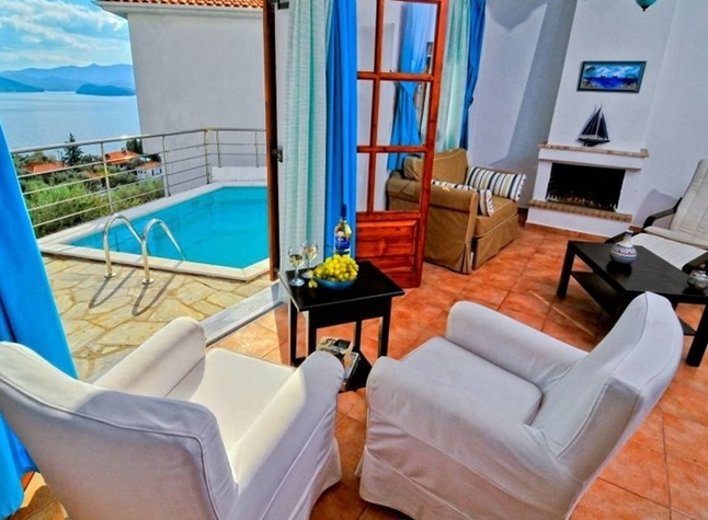 Leda Pelion Hotel, Living room and private pool,372